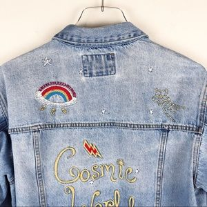 79173b397 Forever 21 | Cosmic World Embroidered Jean Jacket